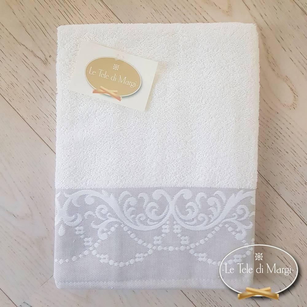 Telo doccia Jacquard Bianco