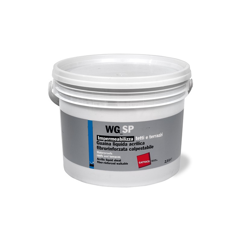 Guaina Liquida Acrilica Impermeabilizzante Fibrorinforzata WG-SP