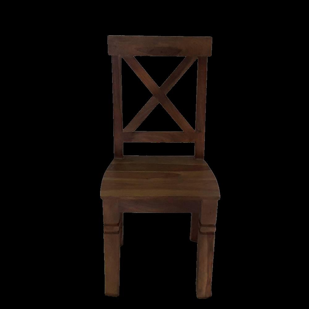 Sedia in legno di palissandro indiano naturale con finitura opaca