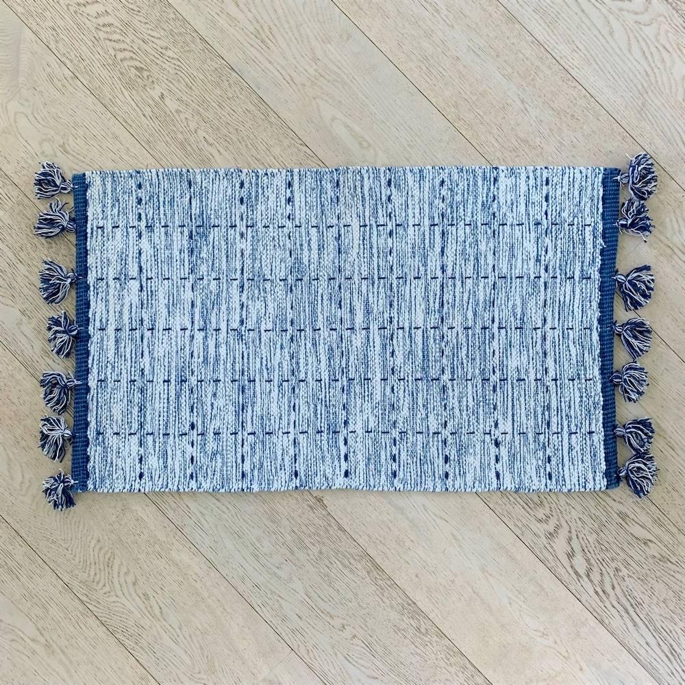 Tappeto Tiago blu 55 x 120
