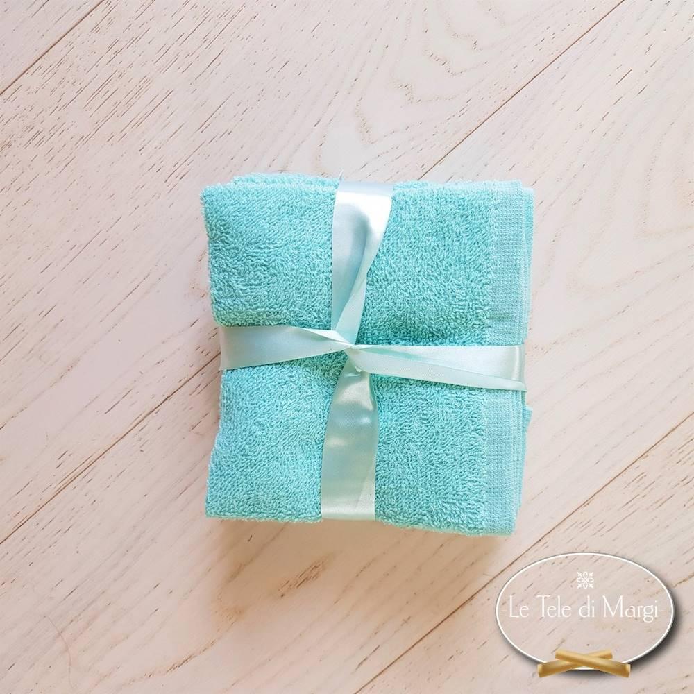 Set 6 lavette bianche acquamarina