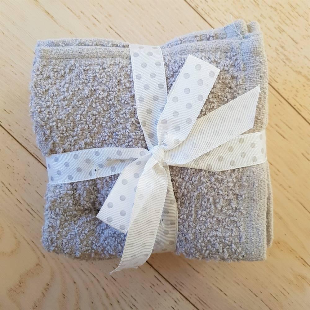Set 5 lavette chicco di riso tortora