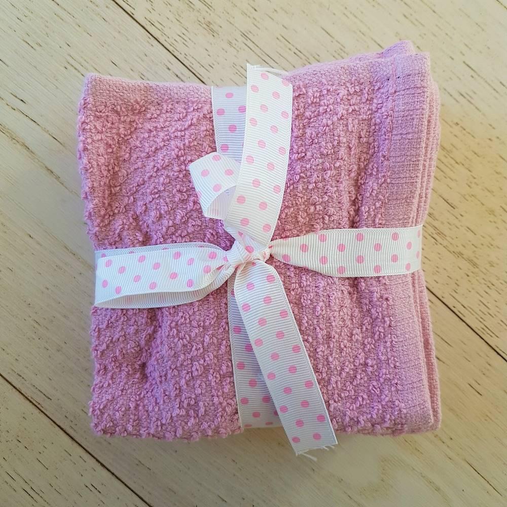Set 5 lavette chicco di riso rosa