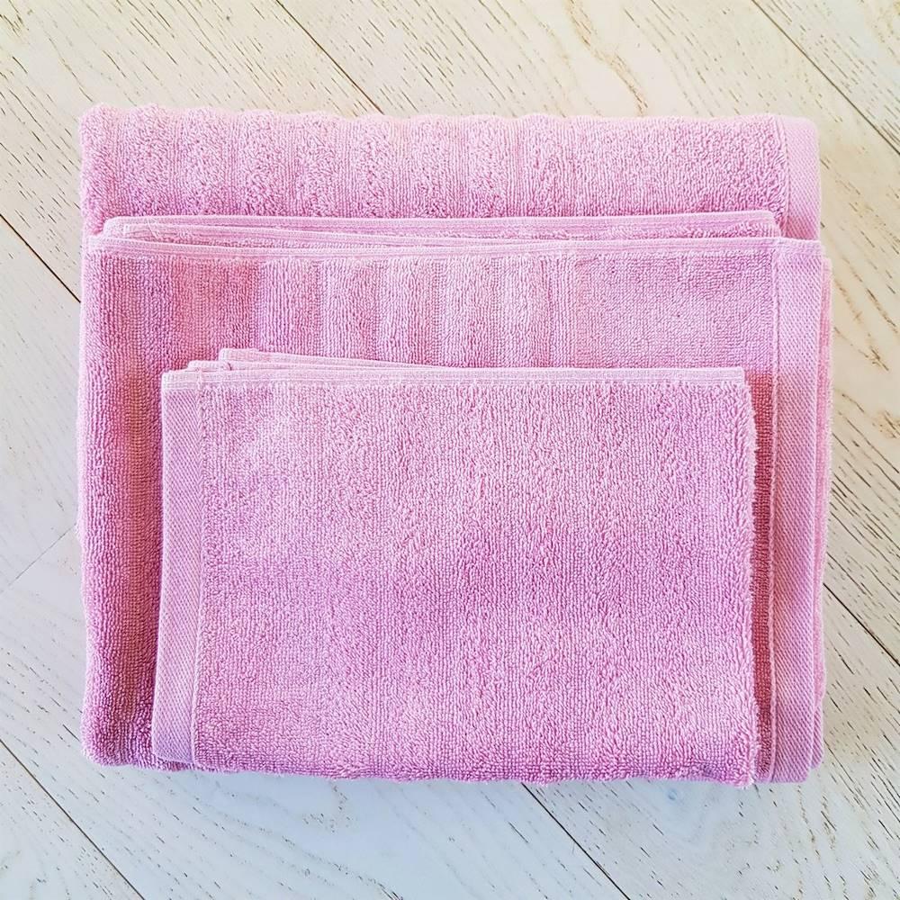 Asciugamano rosa effetto onda