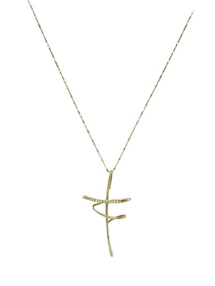 Girocollo Comete Gioielli in oro 18kt e diamanti con croce