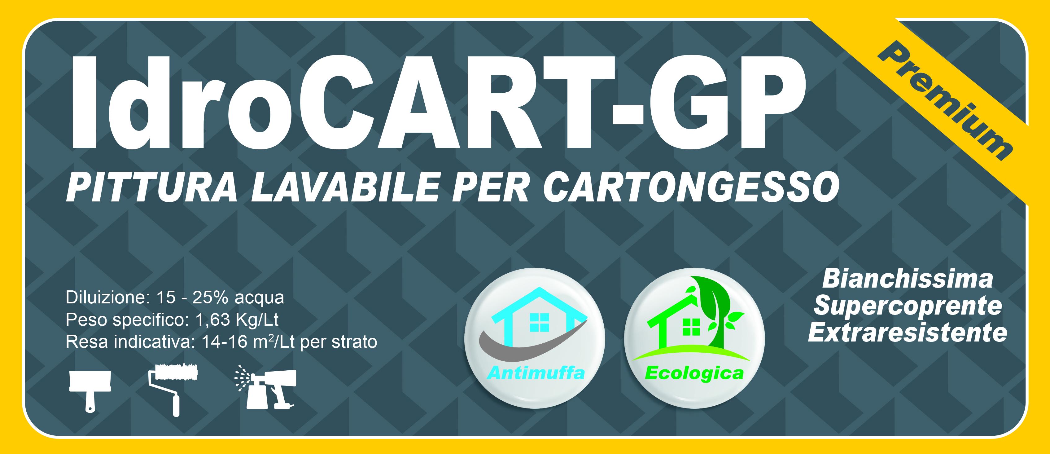 LAVABILE CARTONGESSO PREMIUM - IdroCART-GP -14 LT