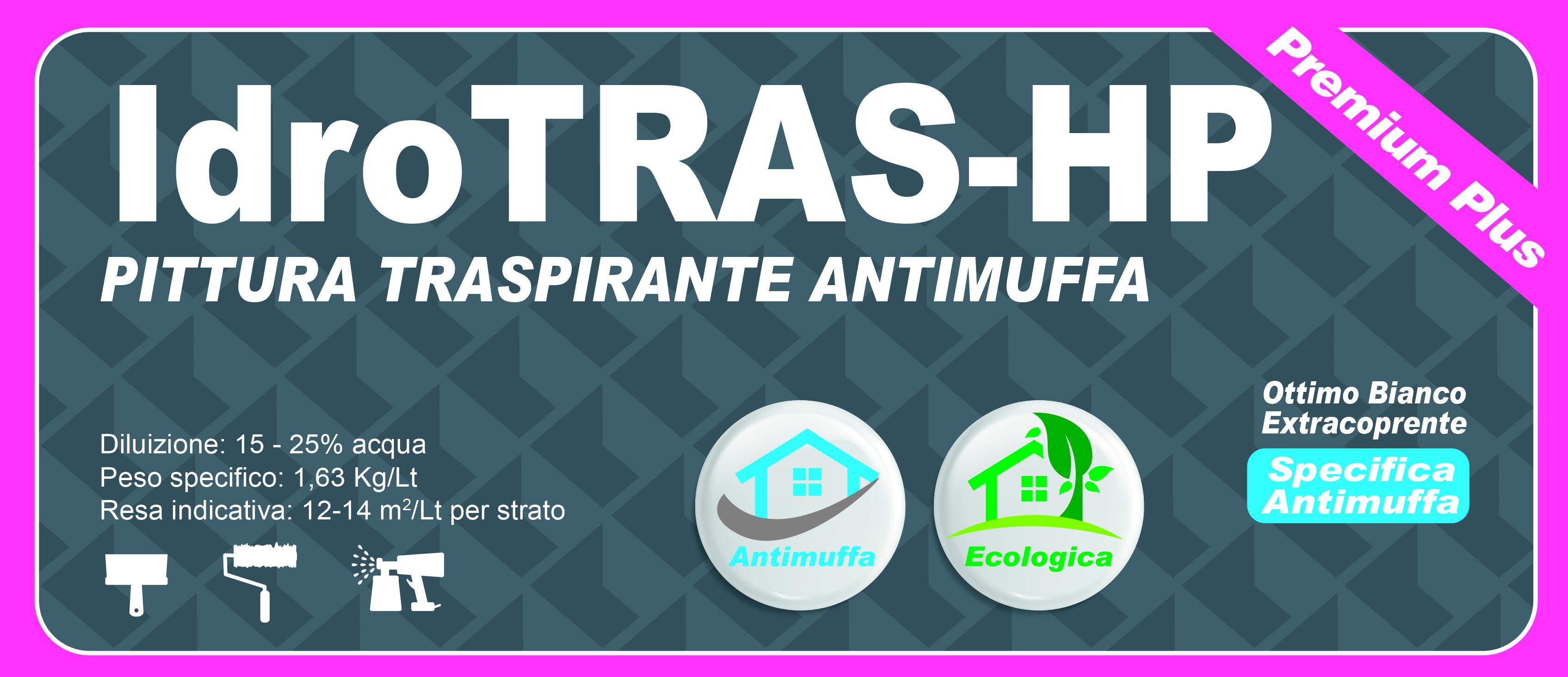 TRASPIRANTE ANTIMUFFA PREMIUM PLUS - IdroTRAS-HP 5 LT