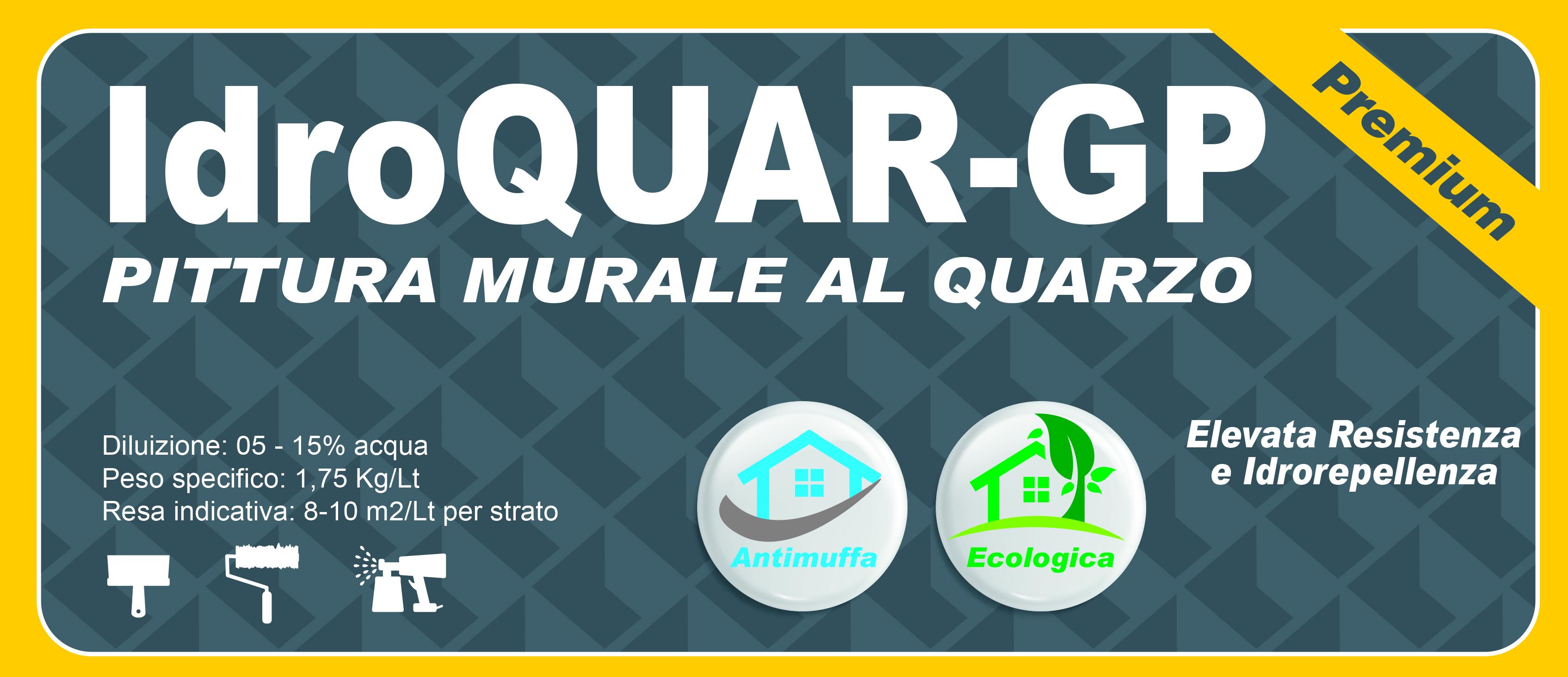 QUARZO PREMIUM - IdroQUAR-GP GRIGIO CEMENTO 14 LT