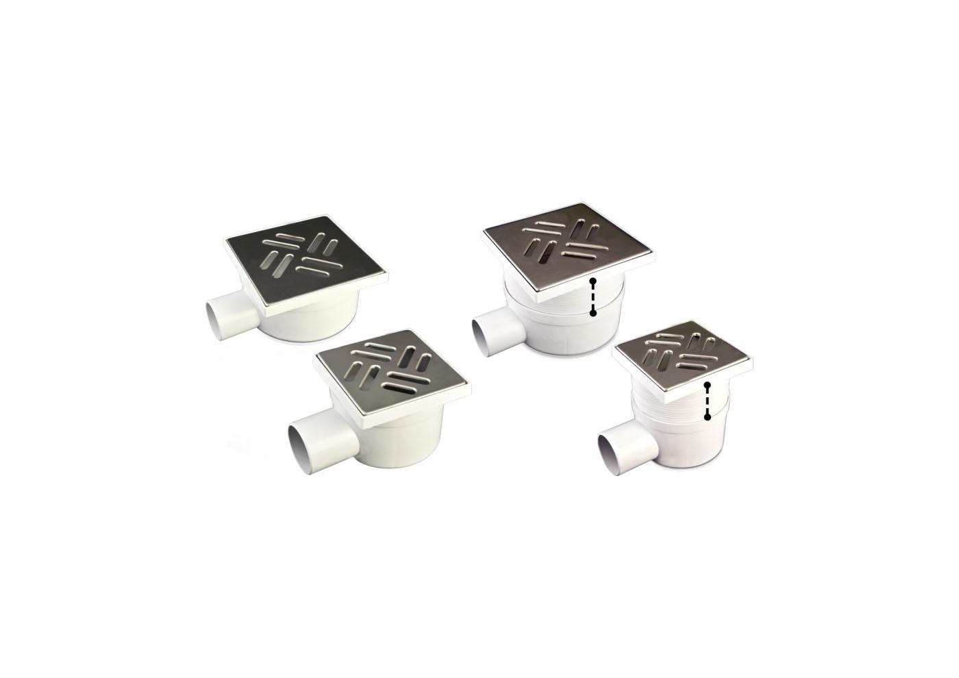CHIUSINO SCARICO LATERALE TELESC. GRIGLIA INOX CM 11,5X11,5