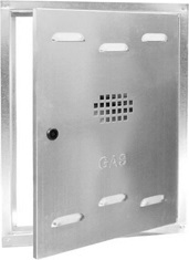SPORTELLO GAS ZINCATO CM 60X40X2