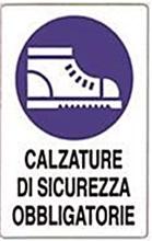 CARTELLO IN POLIONDA CALZATURE DI SICUREZZA OBBLIGATORIE CM 50X70