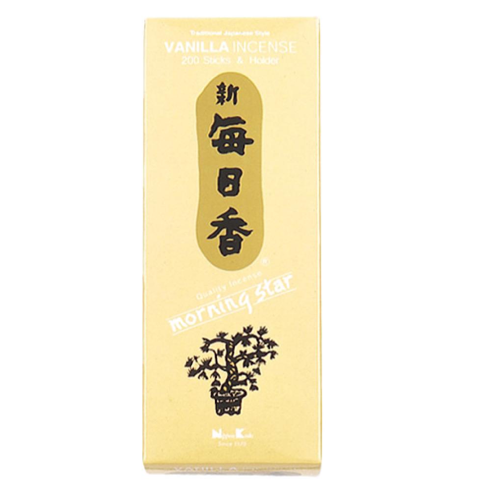 Vaniglia Incenso giapponese 200 stick + porta incensi
