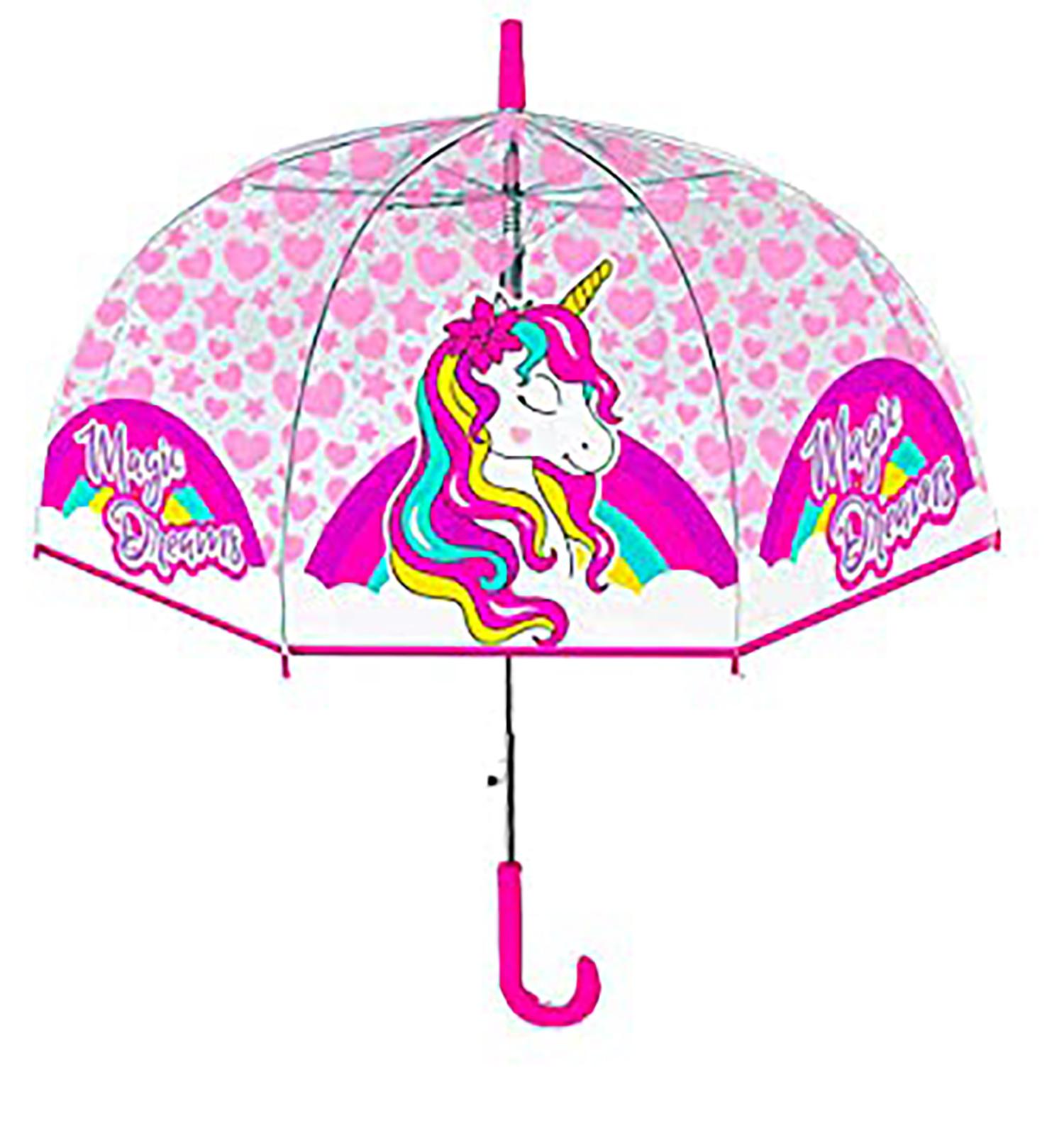 Ombrello Trasparente Unicorno