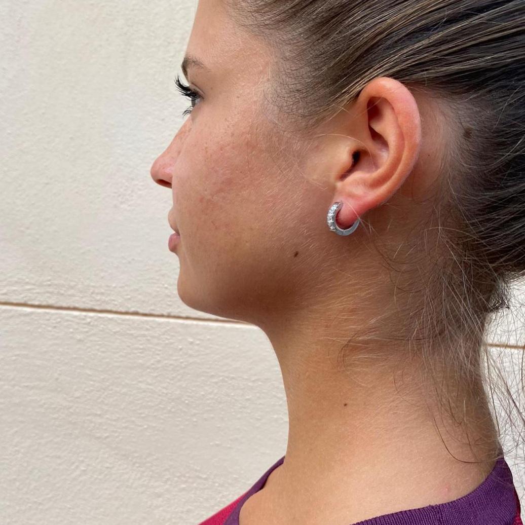 Mono orecchino cerchietto argento Rush