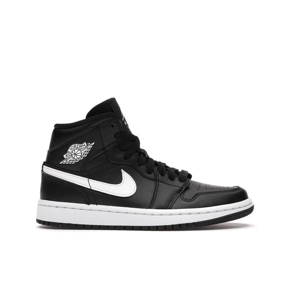 Jordan 1 Mid Black White