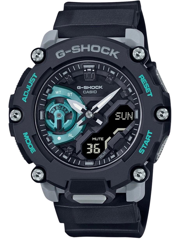 Casio G-Shock, orologio digitale multifunzione nero azzurro