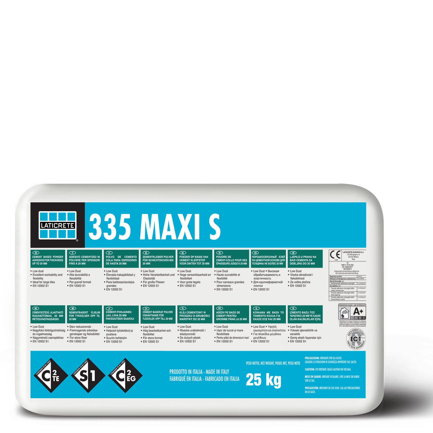 ADESICO CEMENTIZIO - 335 MAXI S WHITE C2TES1 25 KG