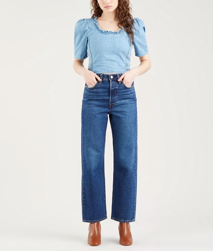 Jeans donna LEVI'S RIBCAGE DRITTI ALLA CAVIGLIA