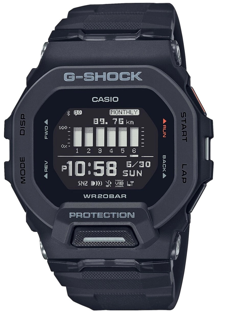 Casio G-Shock G-Squad, orologio digitale multifunzione, cassa nera
