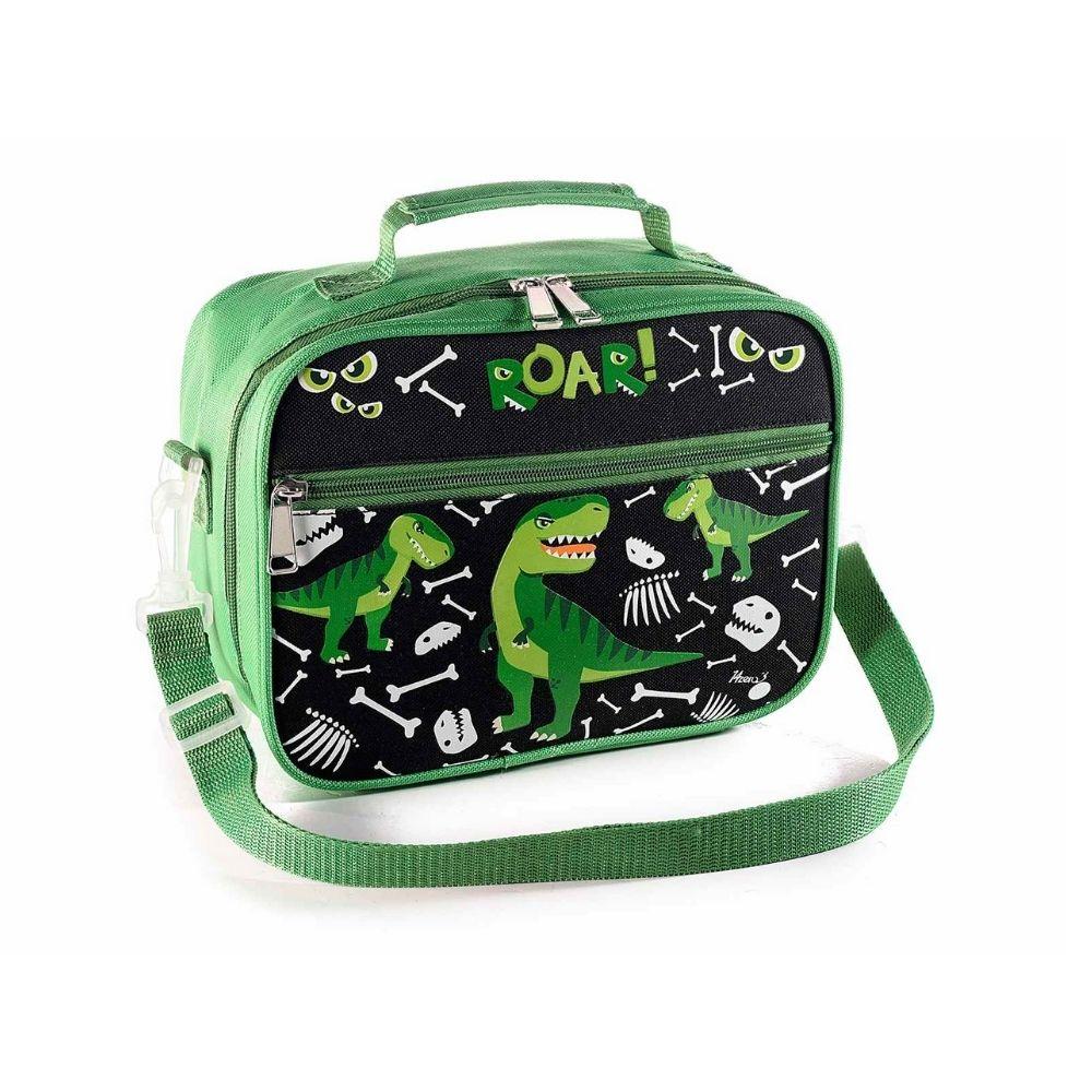 Lunch merenda box borsa frigo con tasca interna Dinosauro