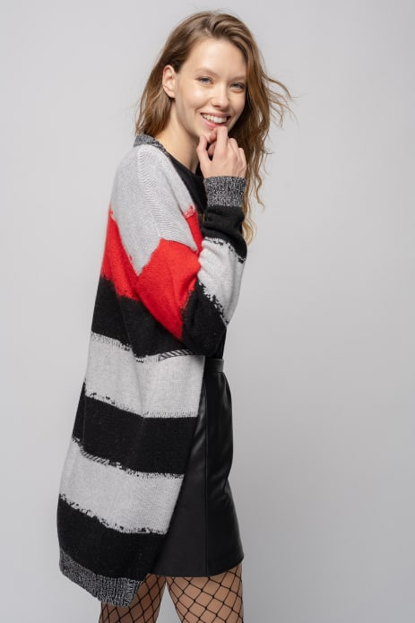 SHOPPING ON LINE PINKO MAXI CARDIGAN A RIGHE CABELLA NEW COLLECTION WOMEN'S FALL/WINTER 2022