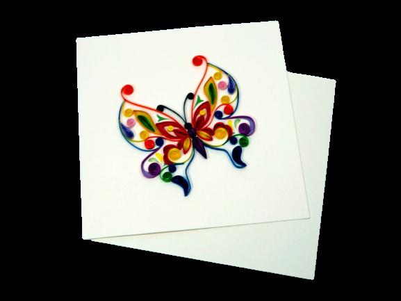 Biglietto augurale in filigrana Farfalla Origamo
