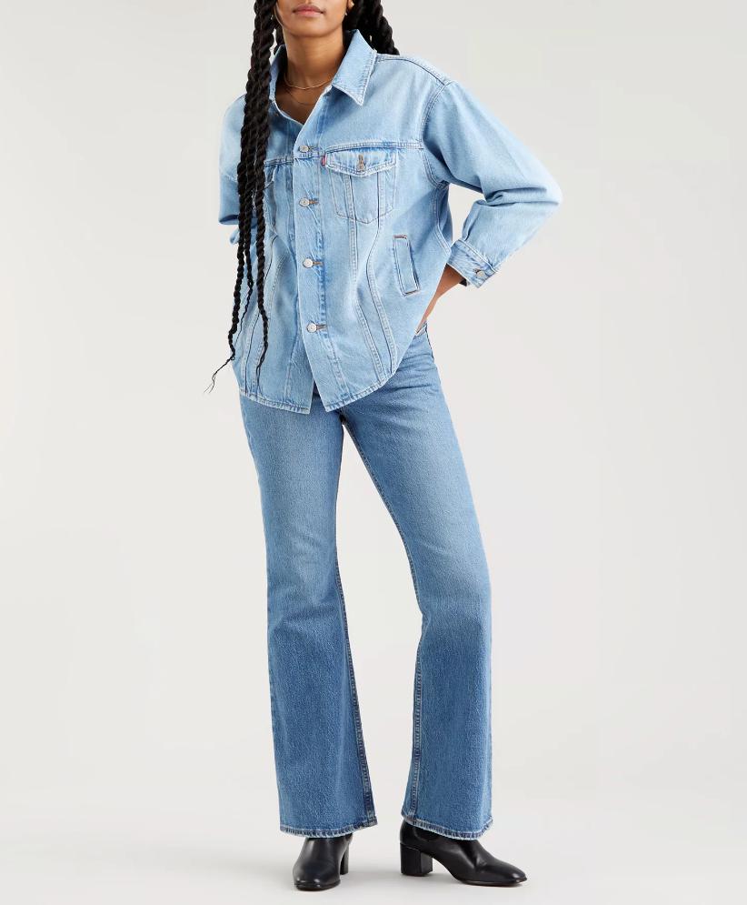 Jeans donna LEVI'S HIGH FLARE A ZAMPA ALTA ANNI '70