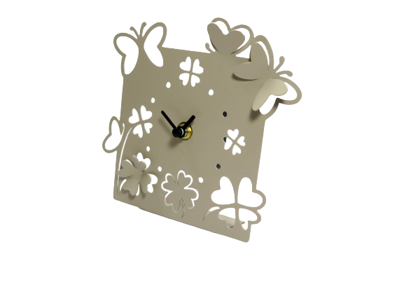 Orologio in metallo con farfalle Wald