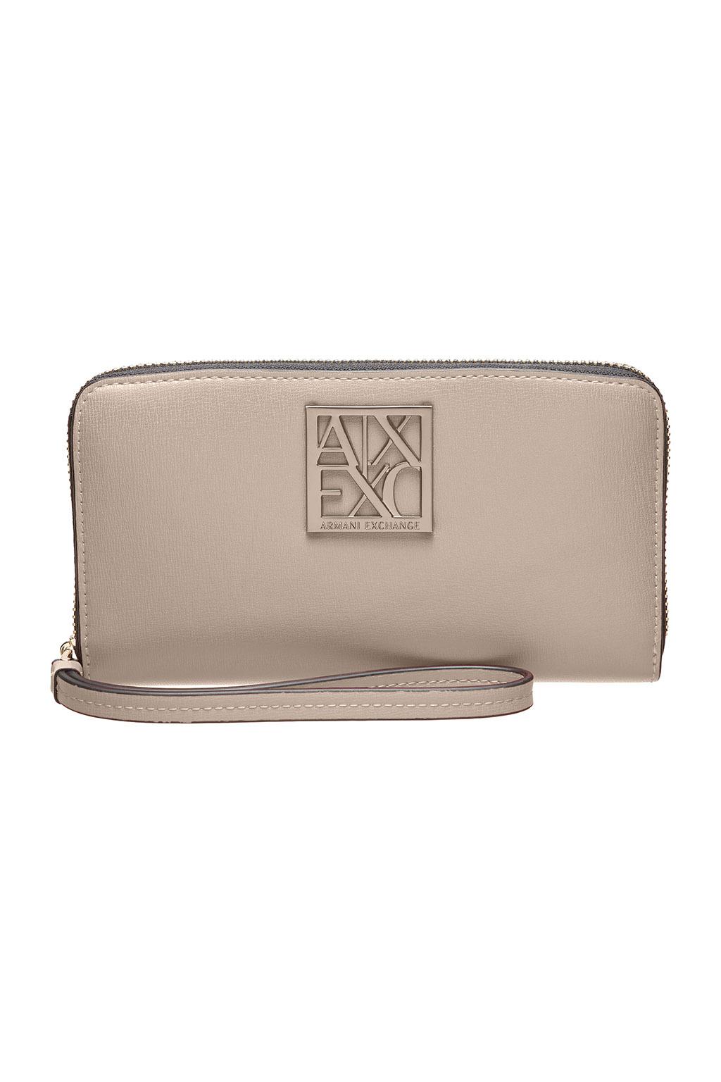Portafoglio donna ARMANI EXCHANGE con zip e placca logo