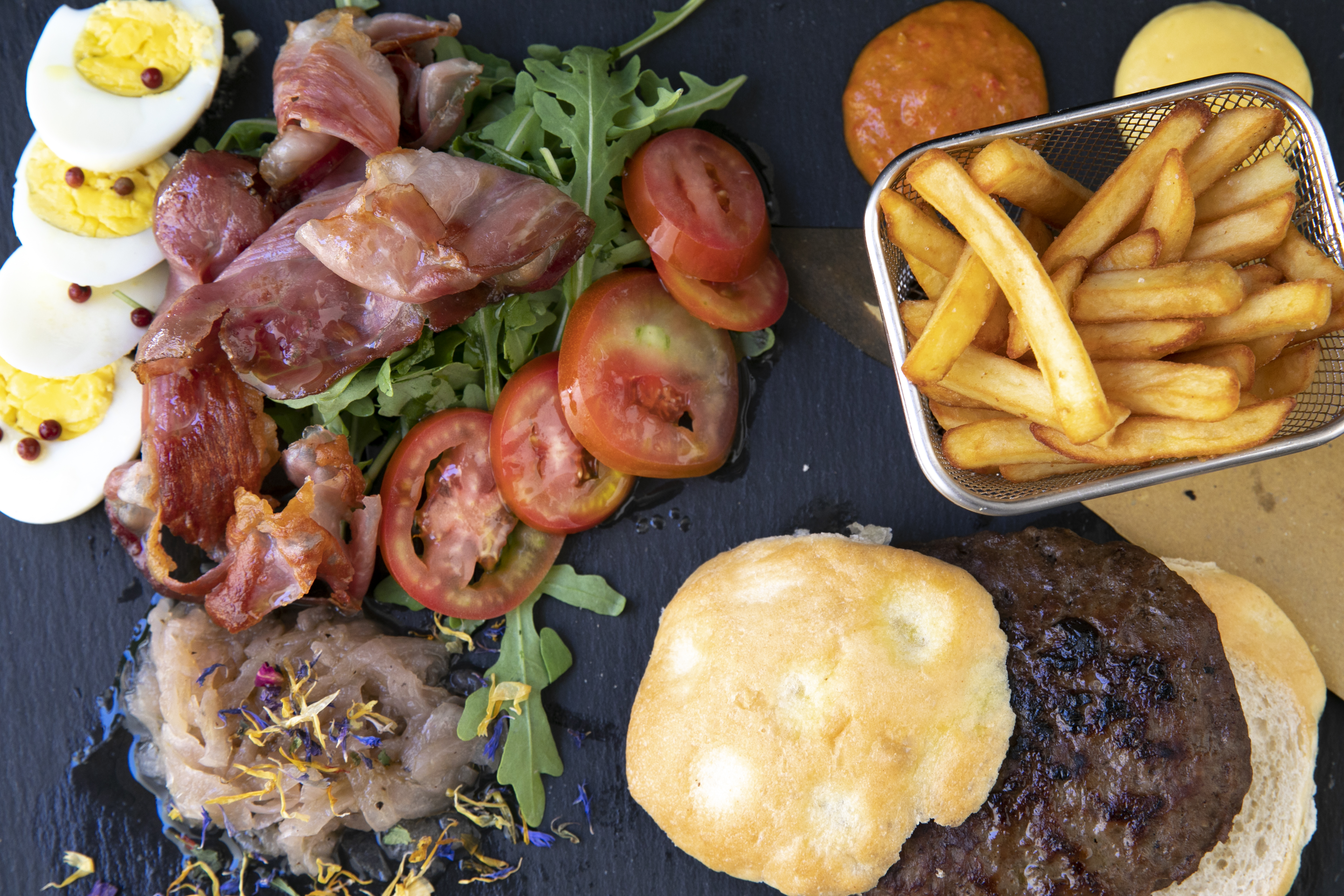 Hamburger scomposto di carne 12€