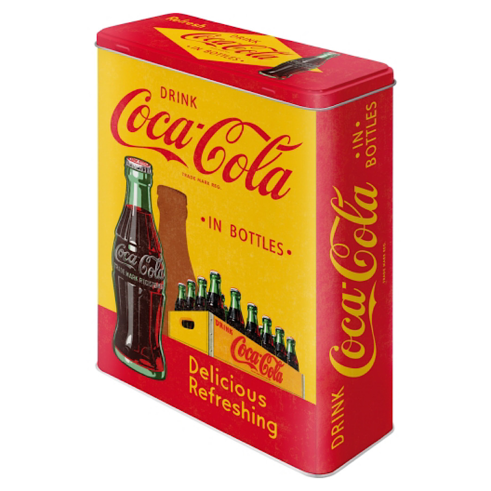 Scatola XL Coca Cola di latta