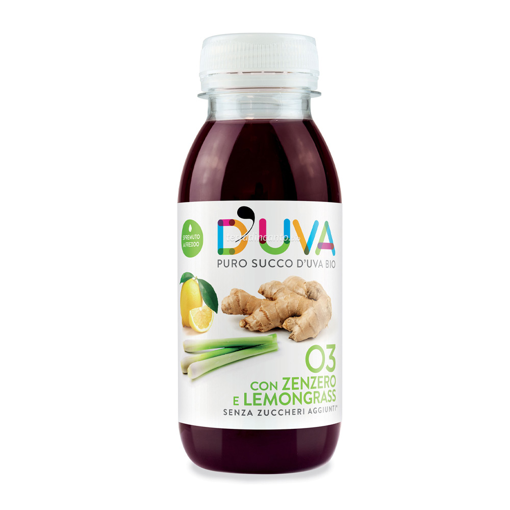 Bevanda a base di succo d'uva, limone e zenzero D'uva
