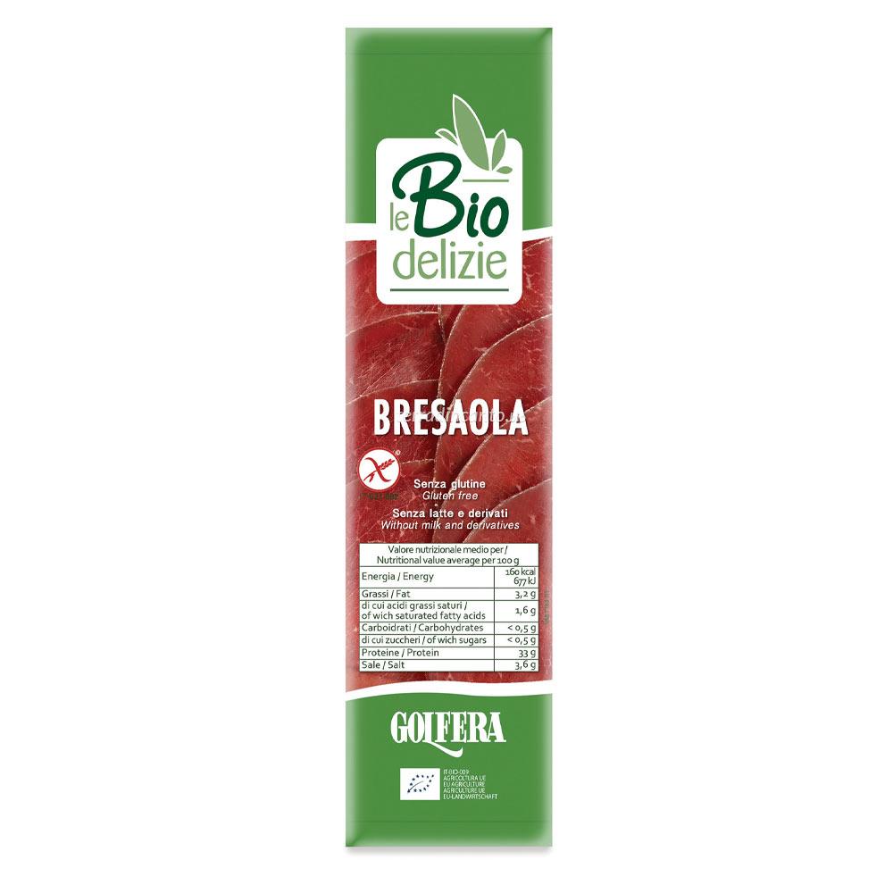 Bresaola senza nitriti aggiunti in rotolino Le biodelizie