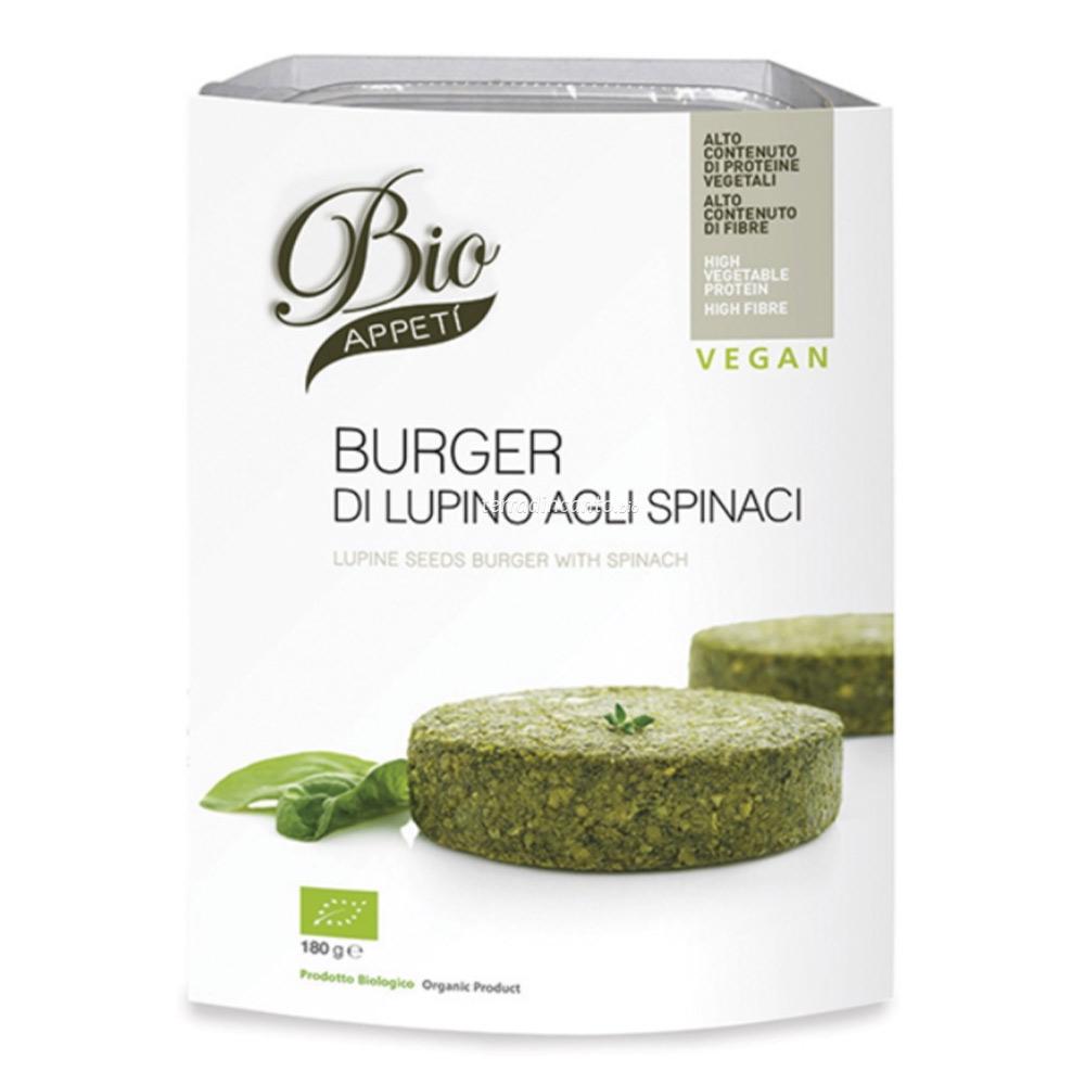 Burger di lupino agli spinaci Bio appetì