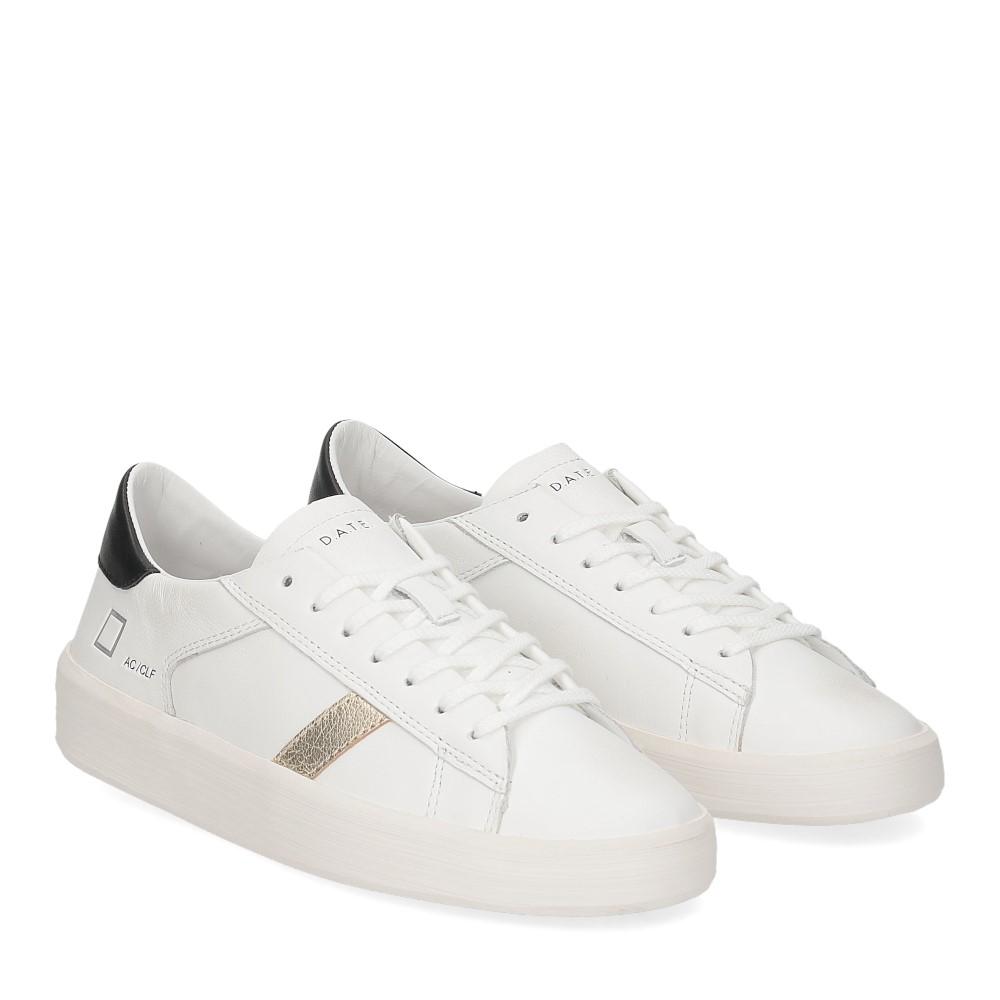 D.A.T.E. Ace calf white black