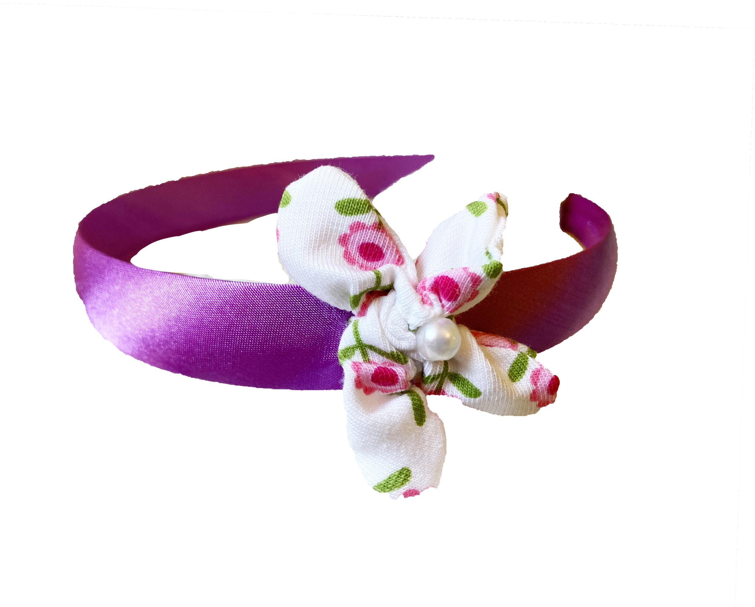 Fiori rosa - cerchietto fiorito