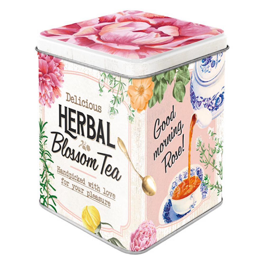 Scatolina da the Herbal Blossom di latta