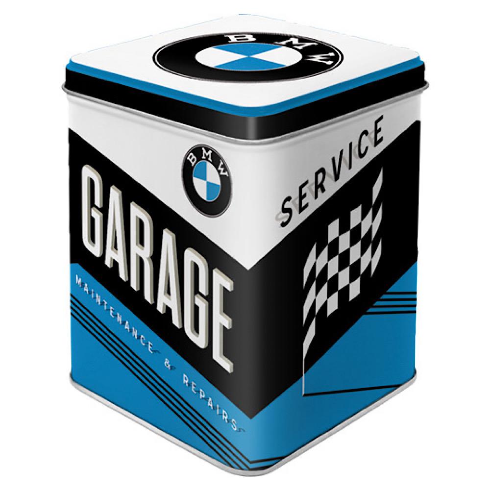 Scatolina da the BMW - Garage  di latta