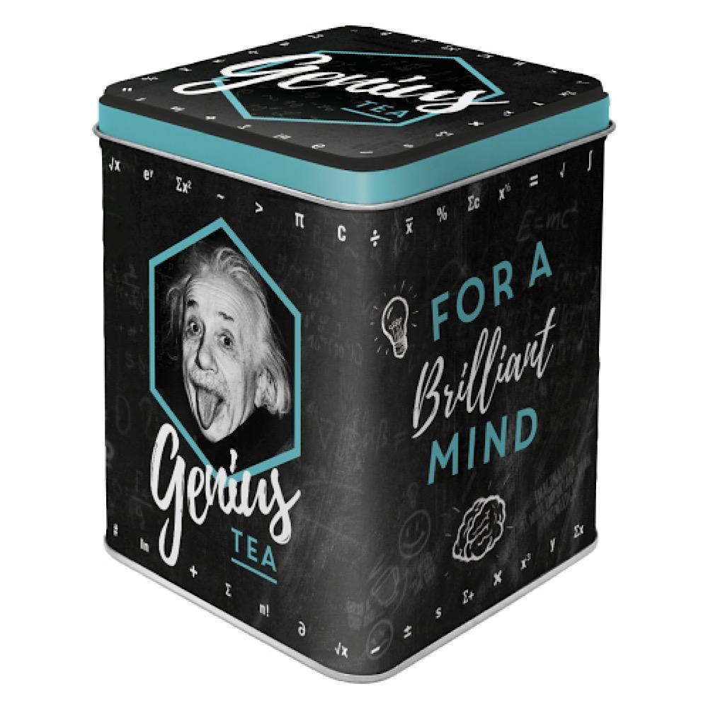 Scatolina da the Einstein - Genius Tea di latta