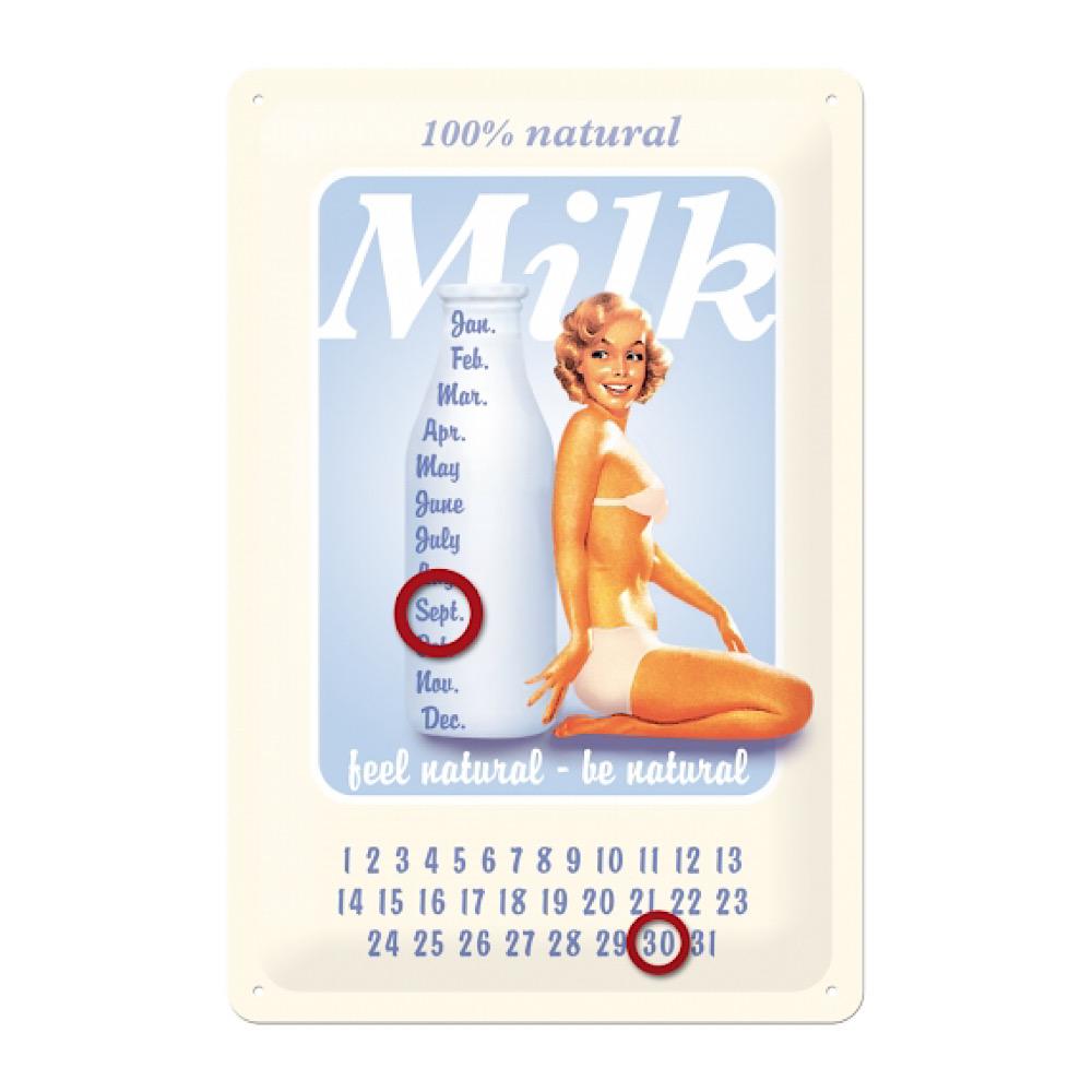 Calendario perpetuo Mike cm 20 x 30 metallo