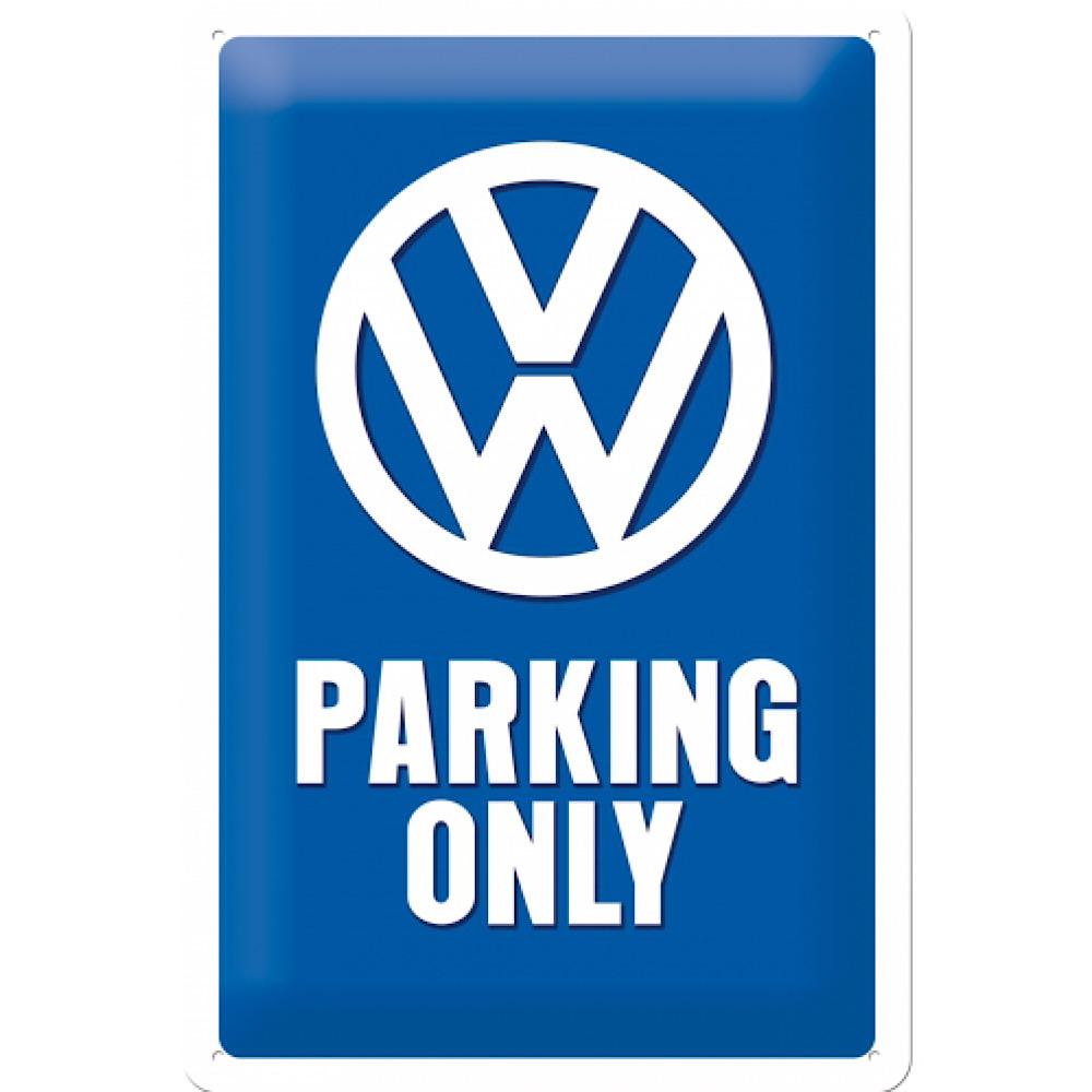 Cartello Volkswagen parking cm 20 x 30 metallo