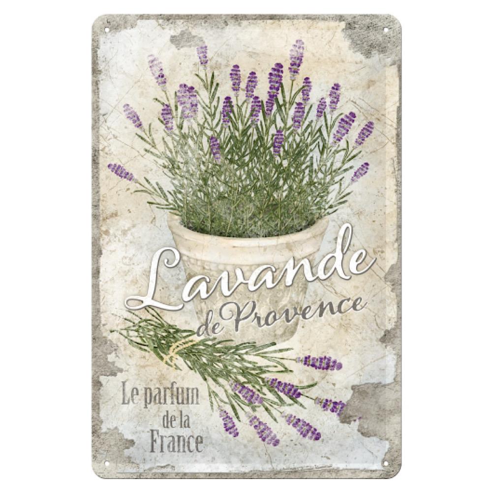 Cartello Lavanda - Provence cm 20 x 30 metallo