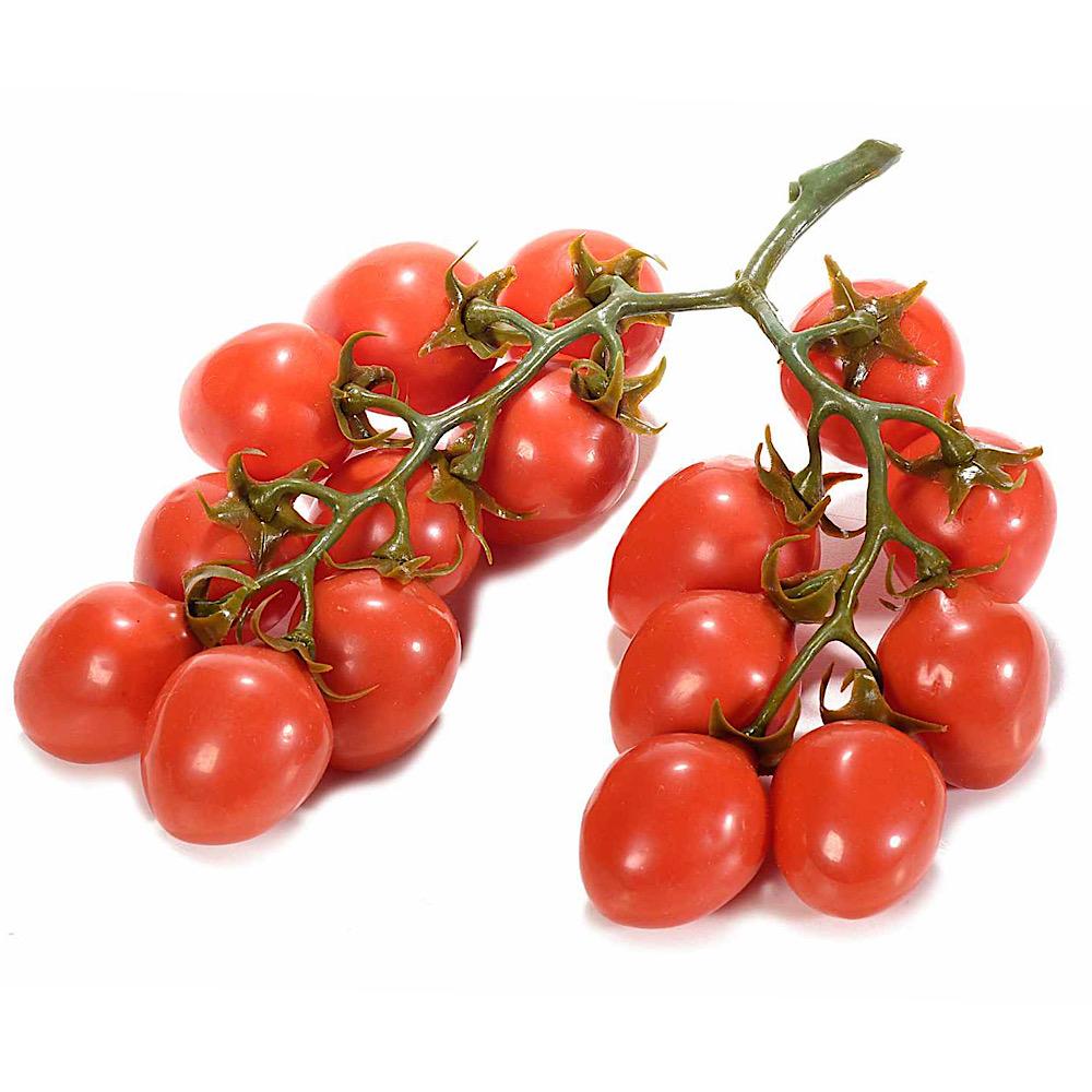 Grappolo di pomodori ciliegino rossi decorativi artificiali