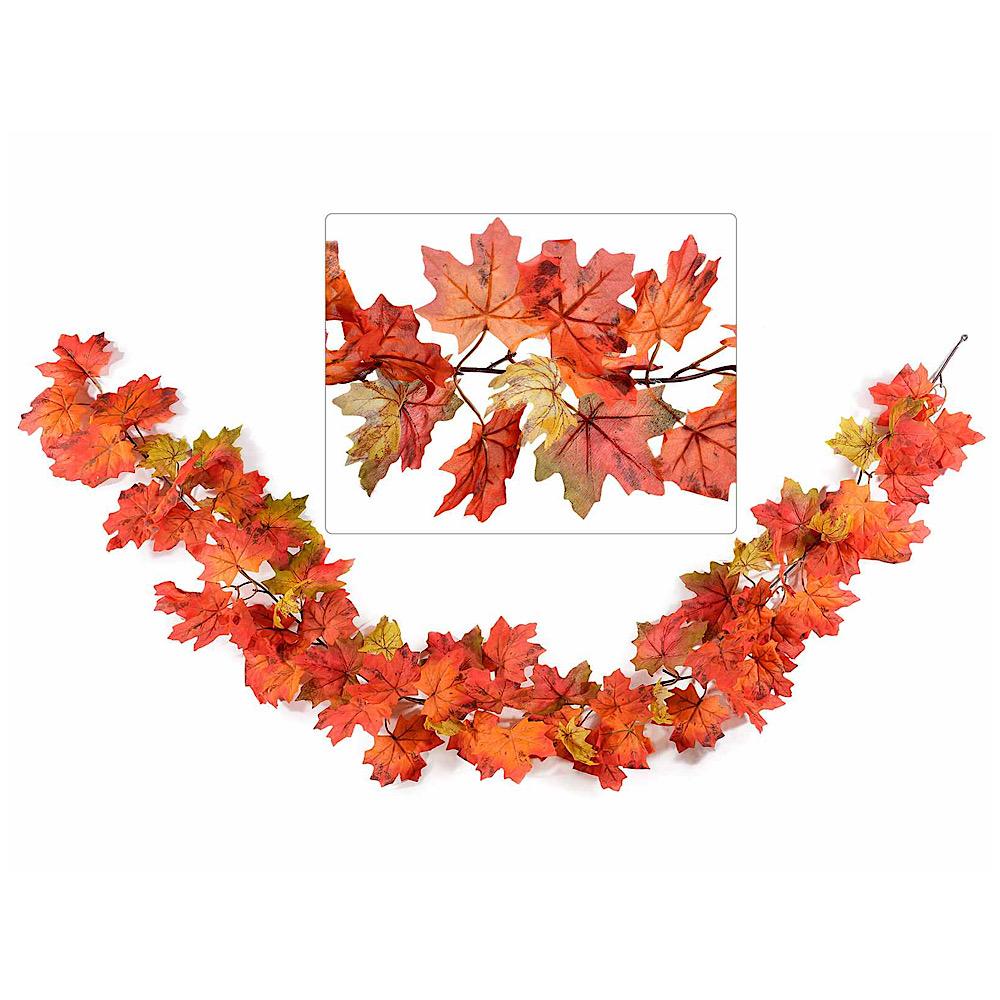 Ghirlanda di foglie autunnali da appendere