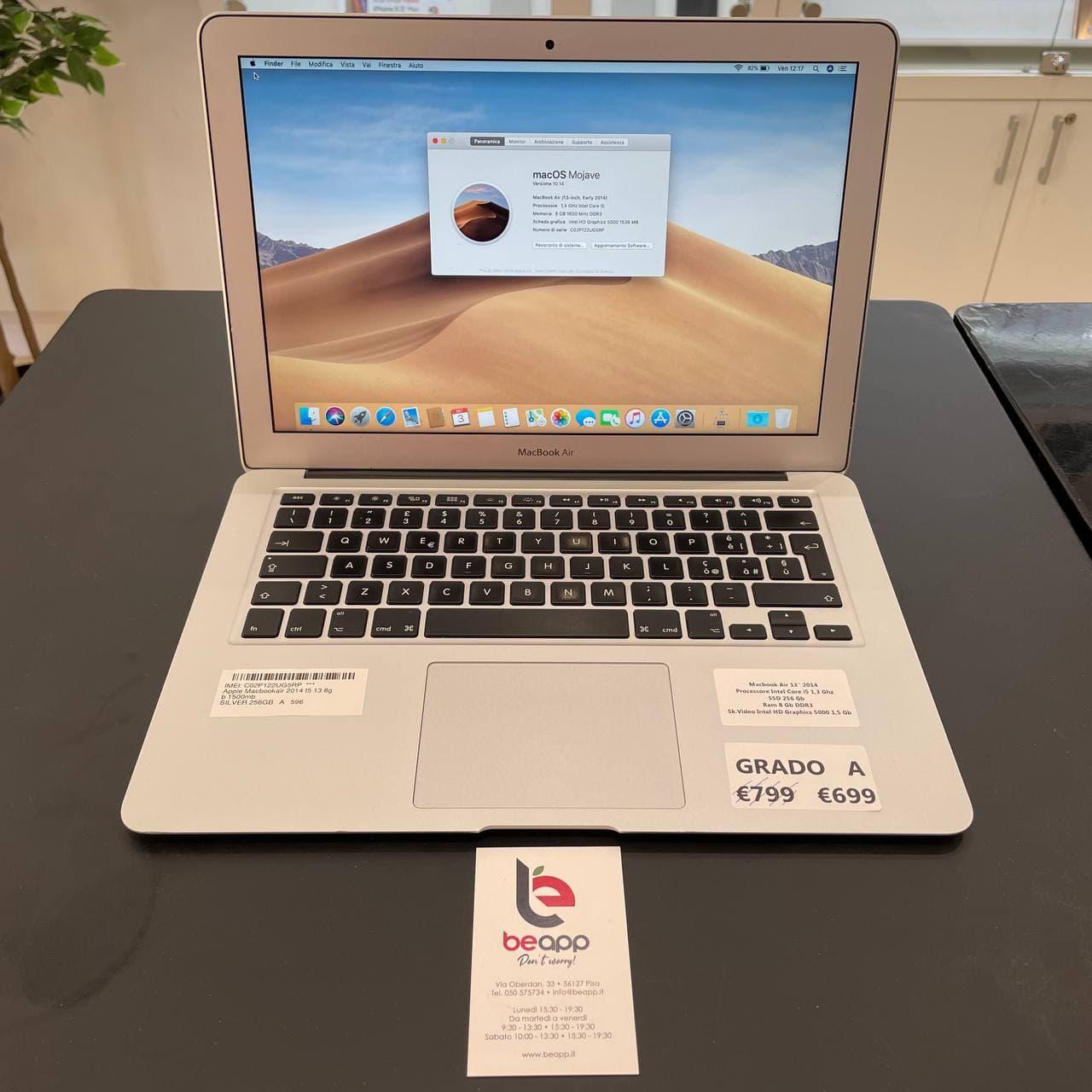 Apple MacBook Air 2014 - intel® i5 - 13