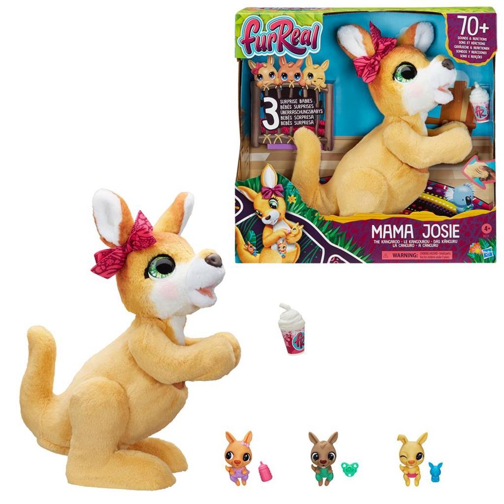Hasbro FurReal - Mama Josie Il Canguro (Mamma Canguro Peluche Interattivo con Oltre 70 Suoni e Reazioni)