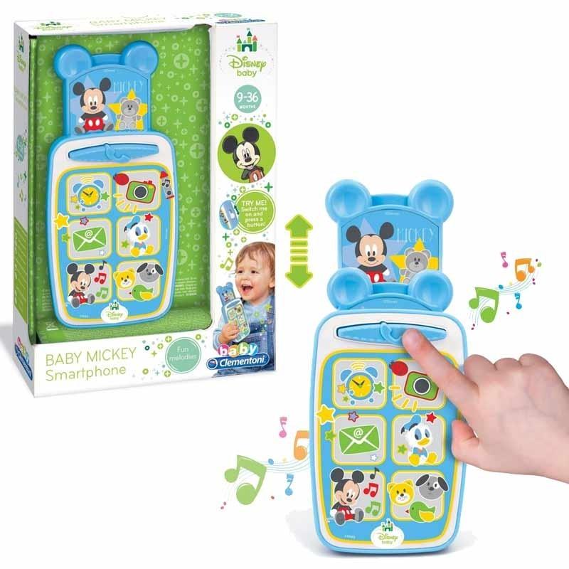Clementoni Lo Smartphone di Disney Baby Mickey Giocatolo Telefono, Multicolore.