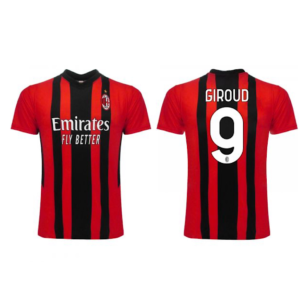 Maglia Giroud Calcio Milan AC 21/22 taglia S M L XL adulto