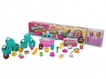 Giochi Preziosi - Shopkins, Set 20 Personaggi con 6 Buste per la Spesa