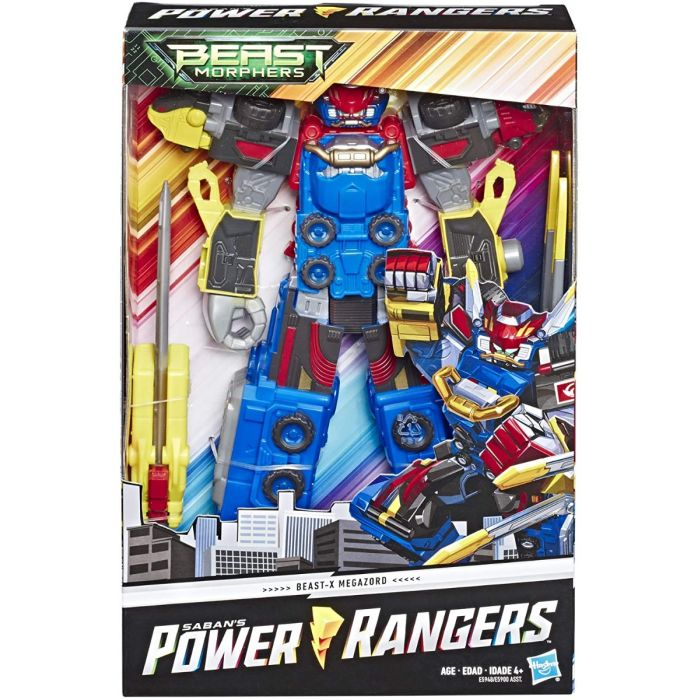 Power Rangers Beast Morphers - Beast-X Megazord (con suoni e frasi, da 25 cm)